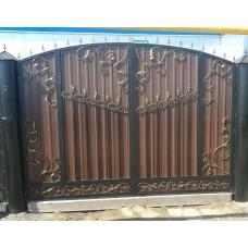 Ворота из профнастила ВПроф1
