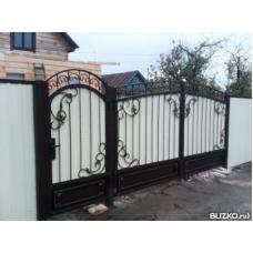 Ворота из профнастила ВПроф2