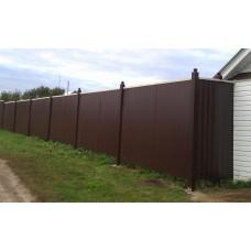 Забор из проф.листа ЗП2
