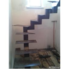 Металлокаркас лестницы Л3