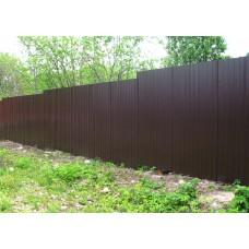 Забор из проф.листа ЗП6