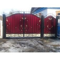 Ворота из профнастила ВПроф7