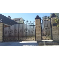 Ворота из поликарбоната ВП12