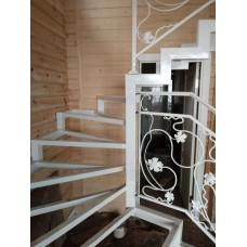 Металлокаркас лестницы Л12